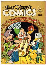 WALT DISNEY'S COMICS & STORIES #45 2.0 BROWN/TAN PAGES GOLDEN AGE