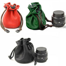 PU Leather DSLR SLR Camera Lens Protector Bag Pouch Case For Canon Nikon Sony GT
