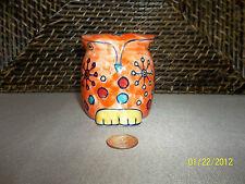 Decorative miniature piggy bank colorful owl figurine design