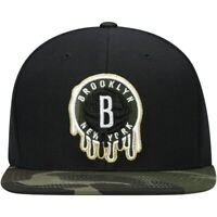 Brooklyn Nets Mitchell & Ness Camo Dripz Adjustable Snapback Hat Cap Hat