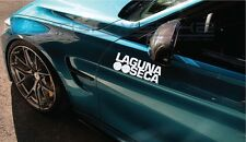 "Laguna Seca Decal sticker Honda Racing Mercedes Race track bmw mazda 12"" Pair"