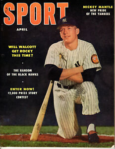 APRIL 1952 SPORT MAGAZINE MICKEY MANTLE  PRIDE OF THE NEW YORK YANKEES