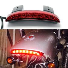 Red Lens LED Tail Light Brake Light For Harley Bobber Chopper Cafe Racer US