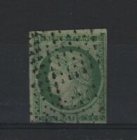"FRANCE STAMP TIMBRE YVERT 2 b "" CERES 15c VERT FONCE 1850 "" OBLITERE A VOIR T871"