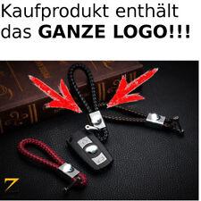 Leder Schlüsselanhänger für BMW 3er X5 X6 X3 M3 1er Z3 M5 M6 Luxus Schwarz