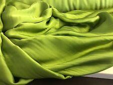 "NEW 100% Silk Satin Green Fabric 61"" 159cm Dress Scarf Cloth Material Garment"