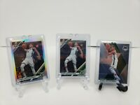 Lot Of (3) - Giannis Antetokounmpo: 2019-20 Optic Silver Holo, Optic And Mosaic