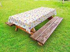 Küche Outdoor Tischdecke Bunte Utensilien Teekannen Gartentisch Servietten