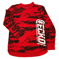NWT ECKO UNLTD. RHINO AUTHENTIC MEN'S RED LONG SLEEVE THERMAL T-SHIRT SIZE M