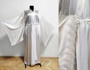 Wedding Dresses Sleepwear Kimono Bridal Robes Plus Size 0 2 4 6 8 10 12 14 16 18