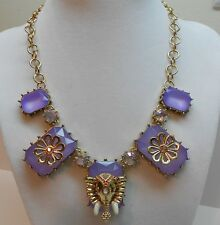 Betsey Johnson Elephant And Multi Lavender Stone Gold Tone Necklace B09892-N01