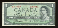 1954 Bank of Canada $1 - Devil's Face Note - S/N: D/A7830259