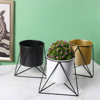 Metal Plant Pot Stand Flower Planter Display Holder Shelf Indoor Garden Decor