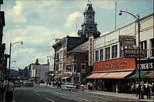 Zanesville Ohio America Color AK ~1950/60 Main Street shops cars ungelaufen