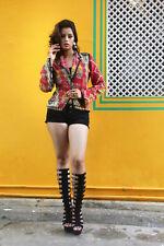 Handmade Reversible Kantha Jacket Cotton Casual Women Overcoat Size-M
