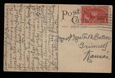 1908 Davenport WA PC with Parcel Post stamp population of under 2,000 in 2010
