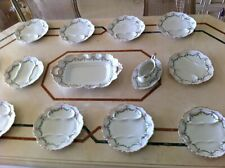 Rare service asperges porcelaine de Limoges E. Bourgeois Charles Martin 1900