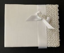 Elegant Pearl & Sequin Guestbook, Bridal Guest Book, Wedding, Bridal, Guestbook