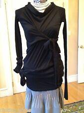EXQUISITE UNIQUE RARE very CHIC Rick Owens Drkshdw  Black cotton sweater/top
