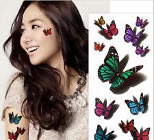 3D Butterfly Body Art Temporary Tattoo Removable Waterproof Sticker 001