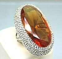 Turkish Handmade Jewelry 925 Sterling Silver Alexandrite Stone Women Ring Sz 8