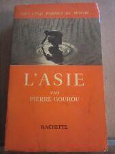 """Pierre Gourou: L'Asie/ Hachette """"Les Cinq Parties du Monde"""", 1953"""