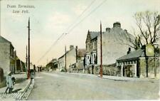 PRINTED POSTCARD OF THE TRAM TERMINUS, LOW FELL, COUNTY DURHAM BY JOHNSTON