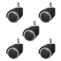 5Pcs Office Chair Caster Rubber Wheels Swivel Replacement Heavy Duty 2 inch AU