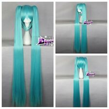 Turquoise Blue Long Wig for VOCALOID Hatsune Miku Cosplay Wig + 130CM Ponytails