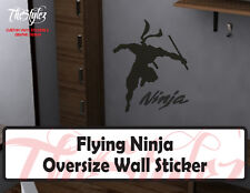 Flying Ninja Oversize Wall Vinyl Sticker