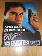 DER HAUCH DES TODES - Kinoplakat A1 ´87 TEASER - JAMES BOND 007 Timothy Dalton