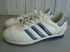 Women's ADIDAS  White Blue Walking Exercise Tennis Shoes, Sz 8