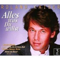 """ROLAND KAISER """"ALLES WAS DU WILLST"""" 3 CD NEUWARE"""