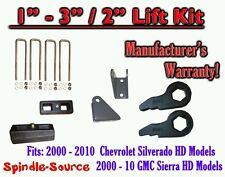 "2000 - 2010 CHEVY GMC 2500 3500 HD Silverado Sierra 3"" Keys + 2"" Blocks + Extend"