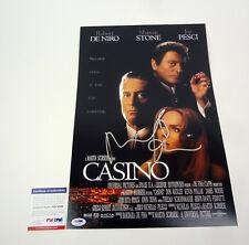 Robert De Niro Signed Autograph Casino Movie Poster PSA/DNA COA