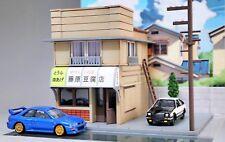 JAPAN INITIAL D TOFU SHOP WITH LIGHTS DIORAMA DISPLAY SCENE 1:64 CHORO Q TOMICA