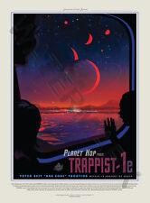 """NASA Poster viaggiare nello spazio Pubblicità TRAPPISTA 1E Planet Hop 18 x 24 """"Large LF3640"""