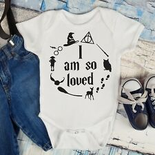 Harry Potter I am So Loved Babygrow Bodysuit Baby Gift (can be personalised)