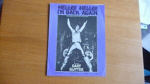 GARY GLITTER HELLO I'M BACK AGAIN ORIGINAL UK 1973 SHEET MUSIC