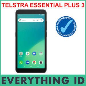 "TELSTRA ESSENTIAL PLUS 3 BLACK 5.5"" SCREEN 4G 4GX 16GB ANDROID BLUE TICK PHONE"