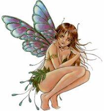 "Sexy Fairy Luminescent Wings Leaf Skirt Elfin Ears Viny Sticker 10"""