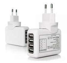 Caricabatterie Bianco con x4 Porti USB (2100 mAh = 2.1A)
