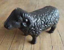 Cast iron Sheep Ram ornament Garden Home Figurine Rustic style UK SELLER