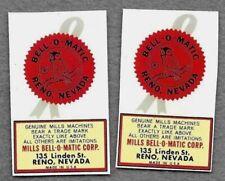 antique slot machine restoration Mills Bellomatic no sticker water slide decals
