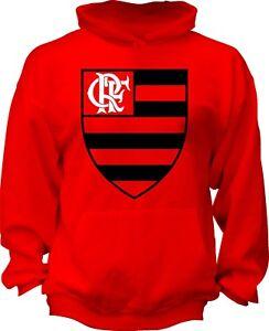 Flamengo Football Brazil Hooded Sweatshirt Hoodie Hoody Fan Apparel Handmade