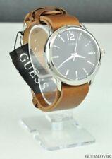 Relojes de pulsera de acero inoxidable de cuero para hombre