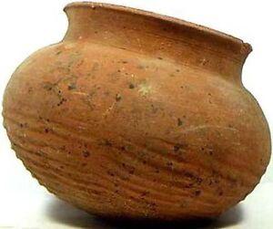 Jar Vase Ancient China Zhou Chou Dynasty Clay Earthenware Impressed Design 500BC