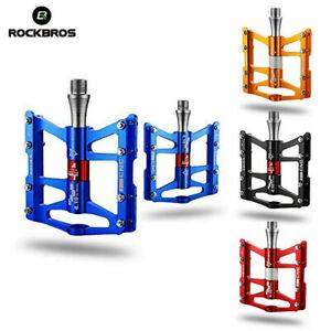 """ROCKBROS MTB Road Bike Pedals Advanved 3 Bearing Pedals Al alloy Platform 9/16"""""""