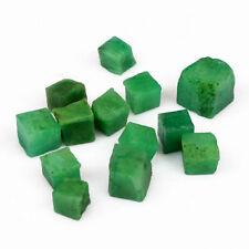 11 Stück echte nicht gebohre Smaragd Rohsteine ! Top rar