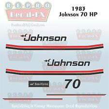 1983 Johnson 70 HP Sea-Horse Outboard Reproduction 10 Pc Marine Vinyl Decals